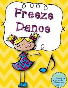 Freeze Dance {FREEBIE} Great brain break