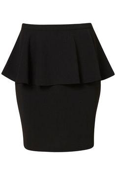 Black Textured Peplum Skirt        * Price: $68.00