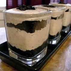 Cookies & Cream Cheesecake Shots-hahahah without the shots :)