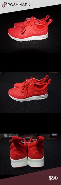 Women's Nike Air Max Red women's Nike Air Max. Mostly red. Never worn, perfect condition! Nike Shoes Sneakers