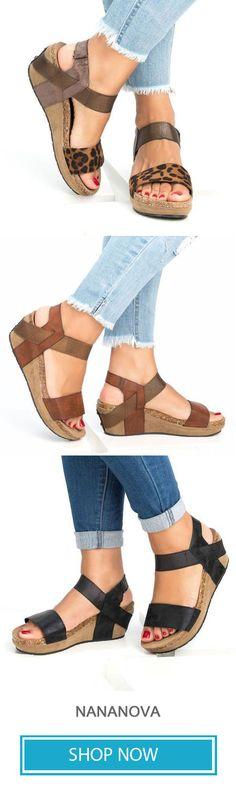 bcc5c3ab8e52b Med Wedge Comfortable Platform Women Sandals