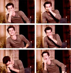 Dylan O'Brien laughing