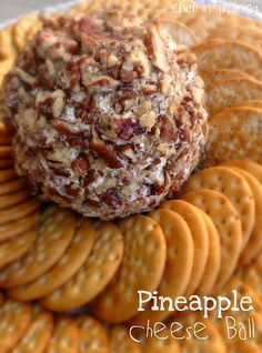 PINEAPPLE CHEESE BALL      1-1/2 packages (12 oz) cream cheese   1 small can crushed pineapple (well drained)   powdered sugar (to taste- approximately 2-3 Tbsp.)   green onion (optional-to taste, approximately 2 Tbsp.)   chopped ham (optional-to taste, approximately 2-3 Tbsp. I used deli meat ham)   chopped pecans (about 1 cup worth)