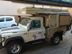Abba Camper on 110 Pick up Land Rover