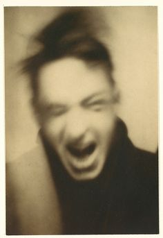 Self Portrait, 1927, by Walker Evans. He's the guy who took the famous photos documenting the depression. This self portrait could be a modern piece. So cool
