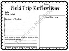 Field Trips: Important Forms To Keep You Organized from Joy in the Journey on TeachersNotebook.com (6 pages)  - Planning a field trip?  These forms are just what you need to keep your organized before and after the trip. These are NO HASSLE - all you need to do is print and fill them out!  Forms include: After Trip Reflections After Trip Evaluations Permission Slip