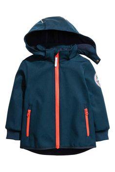 Softshell jacket - Dark blue/Tiger - Kids | H&M