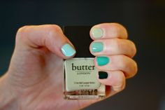 Green ombre nails