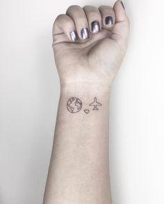 """Gefällt 1,458 Mal, 19 Kommentare - Cagri Durmaz (@cagridurmaz) auf Instagram: """"❤️✈️ #world #heart #plane #apprentice #ink #tattoo #tattooartist #arts_ #artcollective…"""""""