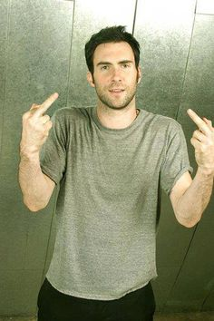 Adam Levine: Now now, be nice.  It's not our fault we stalk you.  <3