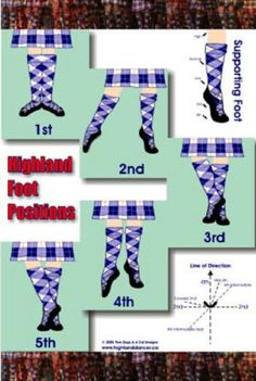 Highland dance - positions
