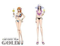 Straw Hats Beach Costumes in One Piece Gold Movie   ONE PIECE GOLD