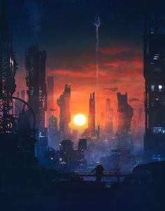 ArtStation - Barcelona Smoke & Neons: The End , Guillem H. Pongiluppi