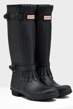 Hunters Original Fringe Wellington Boots, £175