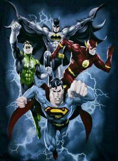 Batman, Green Lantern, Flash, Super Man Got a Shirt of This