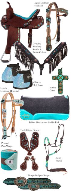 Turquoise Tack for the Barrel Racer | Horses & Heels