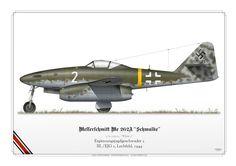 GERMAN AIR FORCE . LUFTWAFFE (WW2) Ergänzungsjagdgeschwader 2 III./EJG 2Lechfeld, 1944