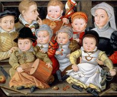 Portrait Of A Mother And Her Eight Children by Jacob Seisenegger 1565