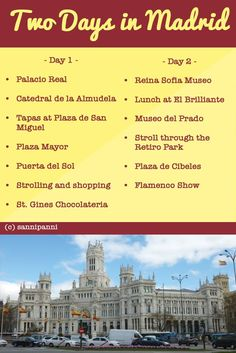 Here's a two-day plan to make the most of your trip to Madrid! madridfoodtour.com