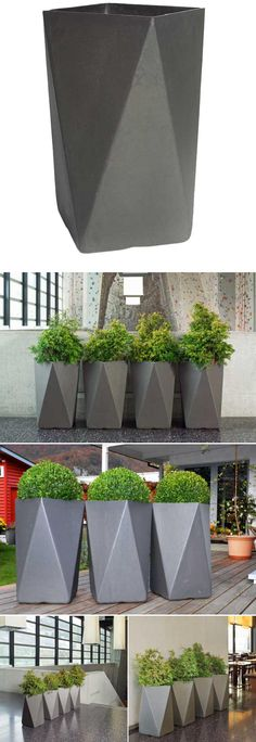 Martin Mostboeck: Arrow Cubist Modern Outdoor Planter | NOVA68 Modern Design