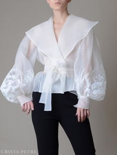 Organza Dress, Silk Organza, Blouse Styles, Blouse Designs, Classy Outfits, Stylish Outfits, White Tulle Skirt, Tea Length Skirt, White Fashion
