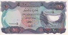 Dam P 65 Iraq 10 Dinars 1973 (Bankbiljetten-Azië)
