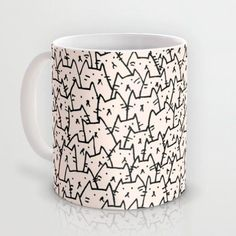 A Lot of Cats mug by Kitten Rain: