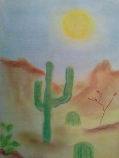 Illustration that accompanied student's write up on the desert