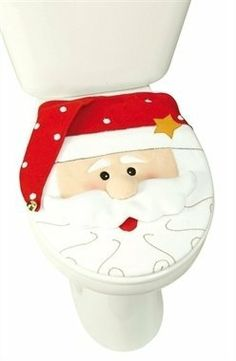 Christmas Chair Covers The Range Directors Bar Stool Leather 20 Best Decoration For Your Bathroom Images Diy Santa Toilet Seat Cover Food Gifts Holidays Toilets Merry