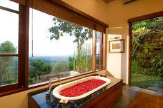 Longhouse Villa - Geria BaliGeria Bali #bali #jimbaran #bathtub #villas #luxury #holiday Indoor Outdoor Bathroom, Jimbaran Bali, Luxury Accommodation, Luxury Villa, Amazing Bathrooms, A Boutique, Villas, Home, Honeymoons