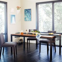 Metal + Wood Dining Table