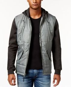 Rvca Men's Puffer Quilted Expedition Jacket  - Black
