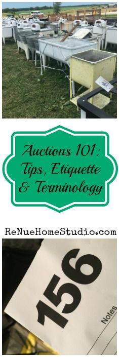 Get our best tips for How to Find an Auction, How to Bid at an Auction, Auction Etiquette, Auction Tips & Tricks and more.   Bidding at an Auction, Auction 101, Auctions 101, How to find vintage, How to find antique, Country Auction, Farm Auction, Auction House, Auction Houses, Auctioneer, Where are Auctions, Auction Premiums, Bid, Bidding Number, Flea Markets, Furniture, Retro, Art, Toys, Household, Equipment, Kitchen, Bedroom, Living Room, Lamps, Barn, Barns, Barnwood, Farmhouse, Farm