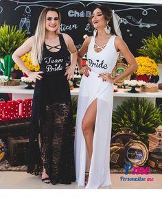 body branco Bride e preto Team Bride