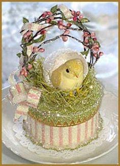 Nested Baby Chick Cake Topper Easter by PatriciaMinishDesign Hoppy Easter, Easter Bunny, Easter Eggs, Easter Cake, Easter Gift, Easter Parade, Paperclay, Easter Holidays, Baby Chicks
