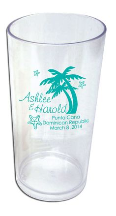 50 Personalized Custom Destination Beach Wedding Favors 19oz Tumblers Wedding Favor Cups