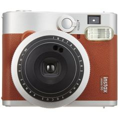 Fujifilm INSTAX Mini 90 Neo Classic Instant Camera (Brown) ($161) ❤ liked on Polyvore