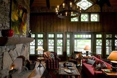 Custom Home Remodeling Architect for the Adirondack Mountains Lake Cabins, Cabins And Cottages, Lodge Look, Lakeside Living, Lake Cottage, Le Far West, Cabins In The Woods, Rustic Interiors, Rustic Design