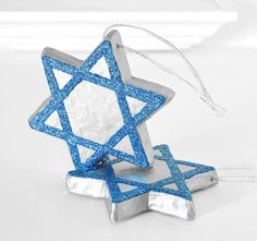 Items similar to Hanukkah Decorations Star of David Ornaments in Blue Glitter and Metallic Silver Holiday Home Decor Winter Chanukah Entertaining Tablescape on Etsy Diy Hanukkah, Hanukkah Decorations, Hannukah, Jewish Celebrations, Star Of David, Blue Glitter, Christmas Crafts, Christmas Tree, Tablescapes