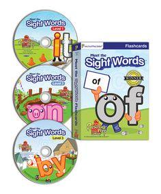 Look what I found on #zulily! Meet the Sight Words DVD & Flash Card Set by Preschool Prep #zulilyfinds