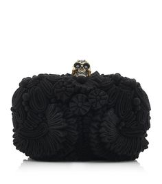 #Alexander McQueen 3D Flower Box Clutch I don't even like clutches usually, but wow.