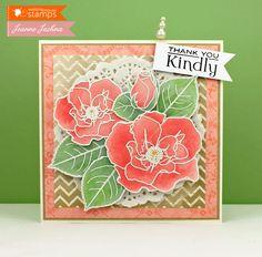 Waltzingmouse Inspiration Blog: Vellum Roses In Bloom