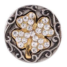 10pcs/lot hot sale metal  Clover button Interchangeable Ginger Snap Fit Button Snaps Bracelet or necklace Jewelry KC7058 #Affiliate