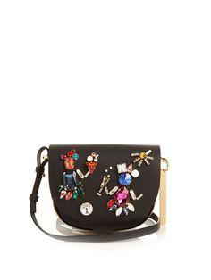 Sophie Hulme embellished black satchel. Leather Crossbody Bag 3544027ad4633