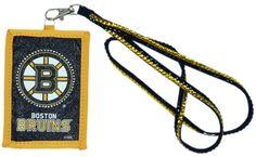 Boston Bruins Beaded Lanyard Wallet