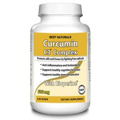 Best Naturals, Turmeric Curcumin Complex with Bioperine (features % More Bioavailability), 500 mg, 120 Vegetarian Caps Osteoarthritis Hip, Best Turmeric Supplement, Cells And Tissues, Turmeric Curcumin, Health And Wellness, Count, Vegetarian, Amazon, Healthy