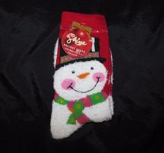 Shine Holiday Socks Happy Snowman Super Soft Sock Size 9 To 11 New Gift Kohl's