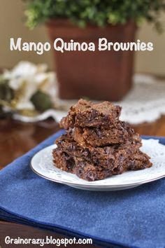 Grain Crazy:moist and chewy.  Mango Quinoa Brownie (gluten free)