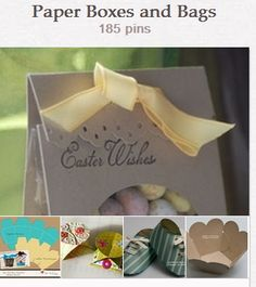 Paper Boxes and Bags by Mary Pacatte http://pinterest.com/marypacatte/paper-boxes-and-bags/