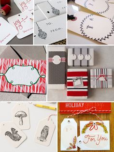 Deck your holiday gifts with these letterpress tags. #holiday #letterpress #paper